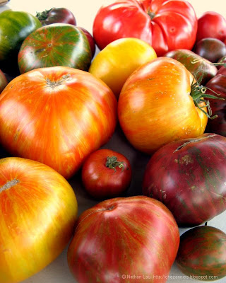 assorted heirloom tomatoes