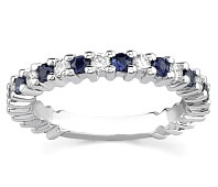 Ladies Diamond and Sapphire Wedding Band