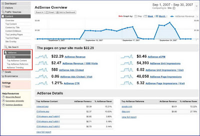 google adsense with analytics