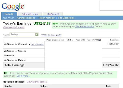 adsense earning proof