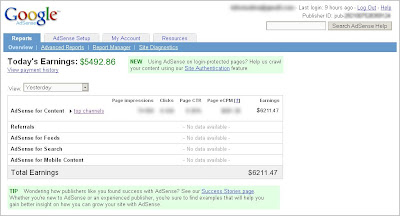 proof of fake google adsense income