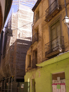 Detalle nueva construcción en calle Gracián de Calatayud