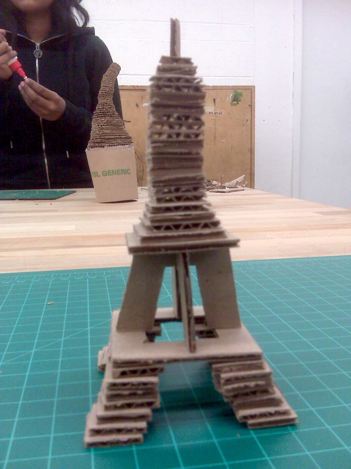 popsicle stick eiffel tower instructions