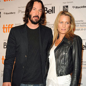 Robin Wright with Keanu Reeves