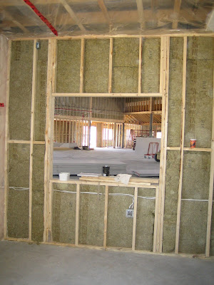 baby room window looking into sanctuary - Drywall Framing