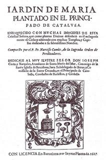 Camós, Jardín de Maria plantado... 1657