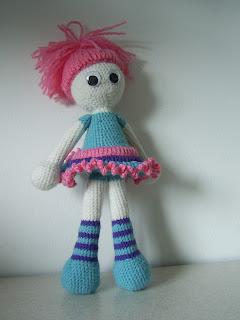 handmade toy doll girl crochet amigurumi gift present kookoo