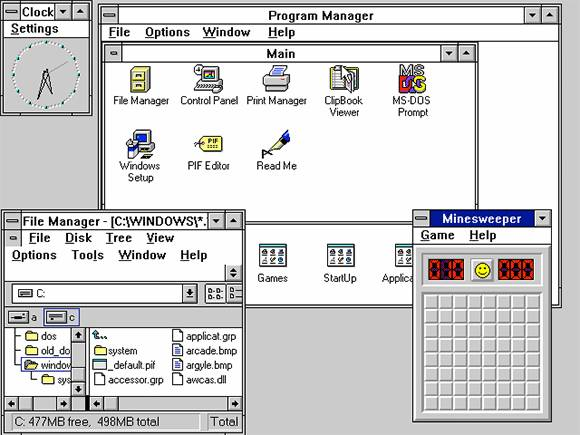 History of Microsoft Windows pics