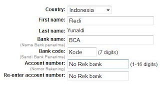 Account Number Bca Paypal