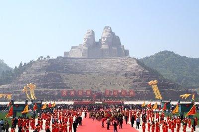 Gli imperatori Yan e Huang, Zhengzhou, Henan, Cina