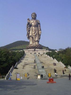 Il Grande Budda a Ling Shan, Wuxi, Jiangsu, Cina