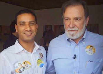 Osmar Dias e o repórter Régis Santos