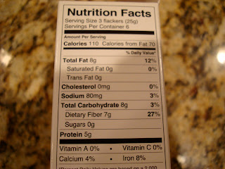 Nutritional Facts on Dr. Flacker's Crackers