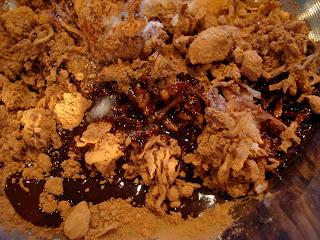 Ingredients being stirred