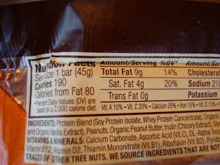 More Nutrition Label on Bar