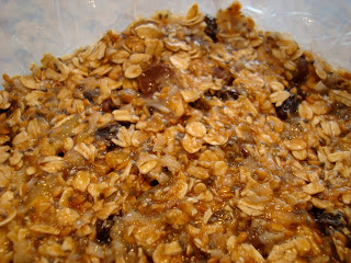 Close up of Protein Bars in container