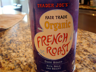 Trader Joe's Fair Trade Organic French Roast coffee in container