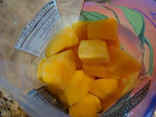 Inside bag of Mango Chunks