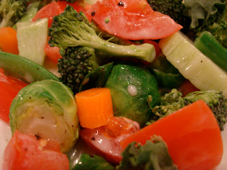 Close up of Vegetables with Dressing