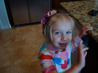 Young girl wearing headband