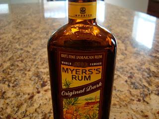 Bottle of Myers's Rum