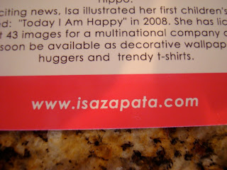 Information card from Isa Zapata with website information