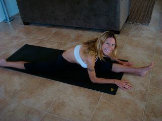 Woman doing Hanumanasana yoga pose