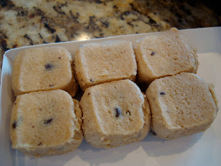 Chunks of cookie dough