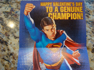 Valentines Day Card with Superman