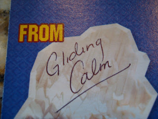 Card with signature from Gliding Calm