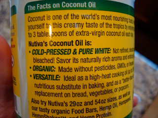 Facts on Coconut Oil on label