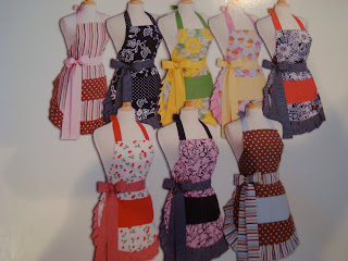 Different versions of Flirty Aprons