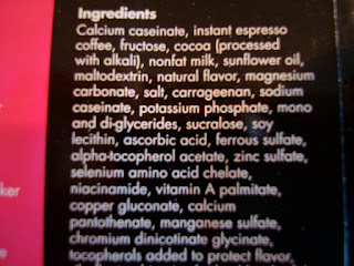 Ingredients of Click Protein
