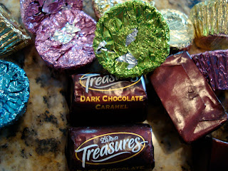 Dove Dark Chocolate Caramel's and Peanut Butter Cups