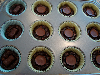 Candy pressed into center or brownie bites