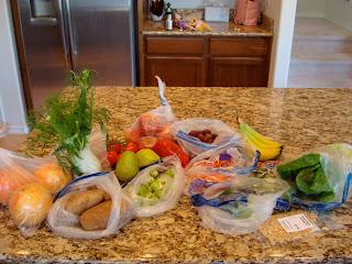 Various fresh produce on countertop