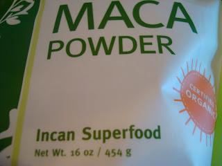 Bottom of bag of Maca Powder