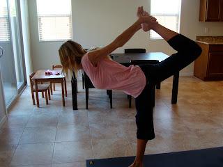 Woman doing Dancer Pose yoga pose