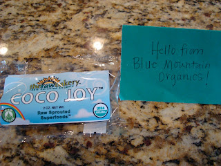 Coco Joy in packaging with note from company