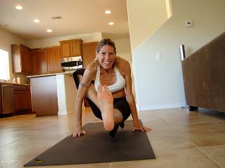 Woman doing Marichyasana A yoga pose