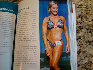 Lady in bathing suit inside book