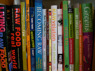 Shelf with various Cookbooks