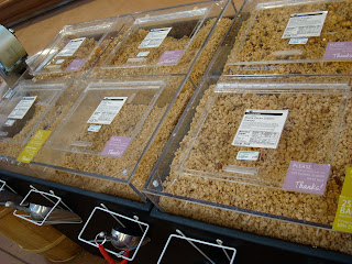Close up of Bulk Bins at Grocery Store