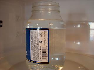 Water being boiled in microwave