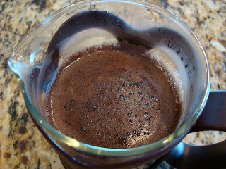 Water added to French Press