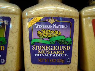 Westbrae Natural Stoneground Mustard bottle