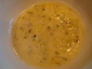 Vegan Slaw Horseradish Relish Dressing in white bowl