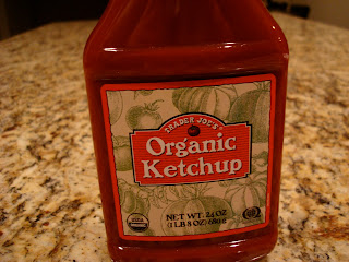 Close up of Organic Ketchup bottle