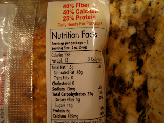 Nutritional Facts on back of Heart Thrive Date Bar