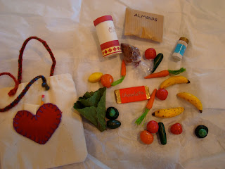Bad with wooden handmade toys